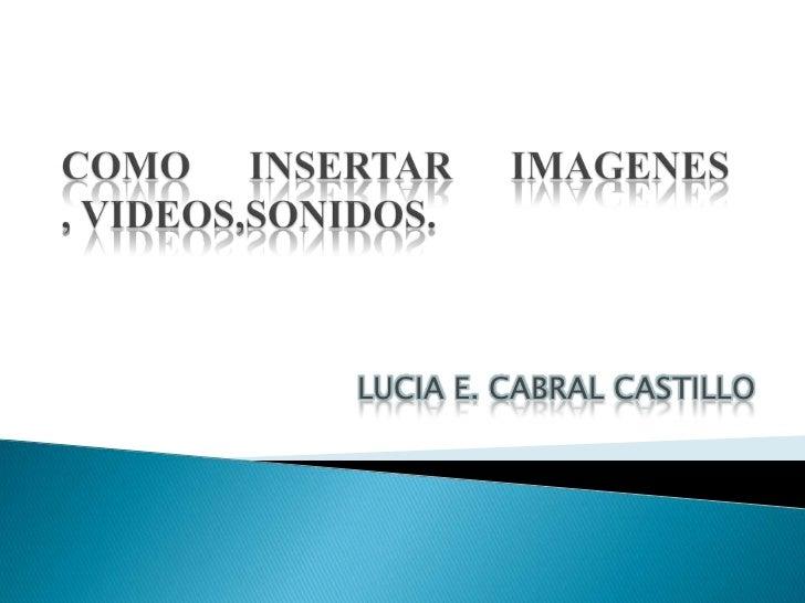 LUCIA E. CABRAL CASTILLO