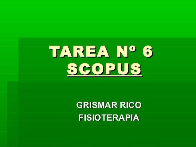 TAREA Nº 6  SCOPUS  GRISMAR RICO  FISIOTERAPIA