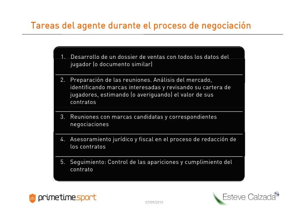 Tareas del agente durante el proceso de negociación         1. Desarrollo de un dossier de ventas con todos los datos del ...