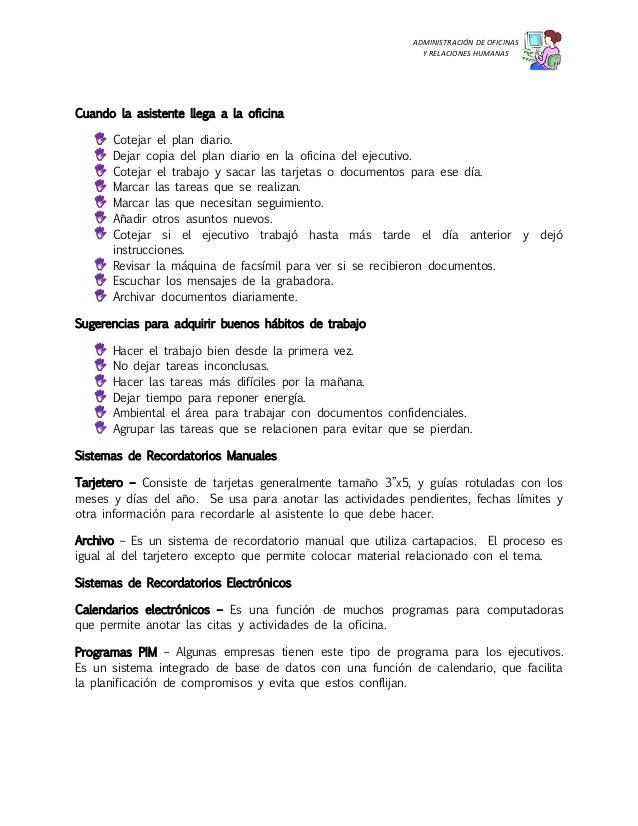 Tareas del asistente administrativo for Actividades que se realizan en una oficina wikipedia