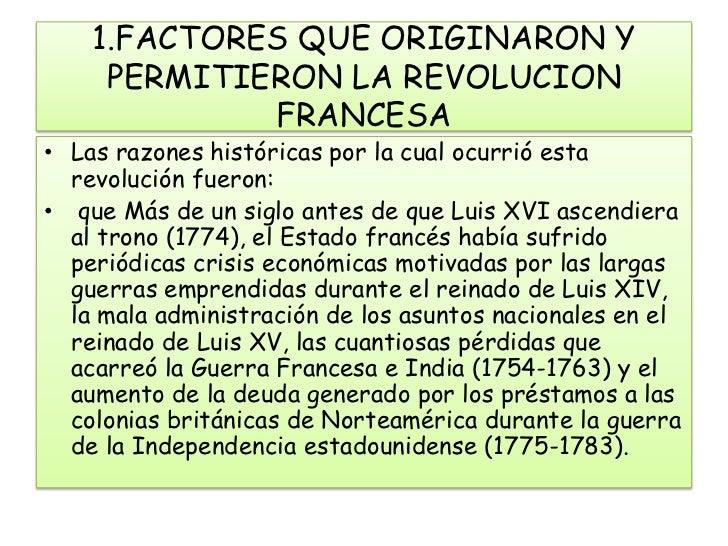 FACTORES QUE ORIGINARON Y PERMITIERON LA REVOLUCION FRANCESA br   Las  razones ... ca2297925aa