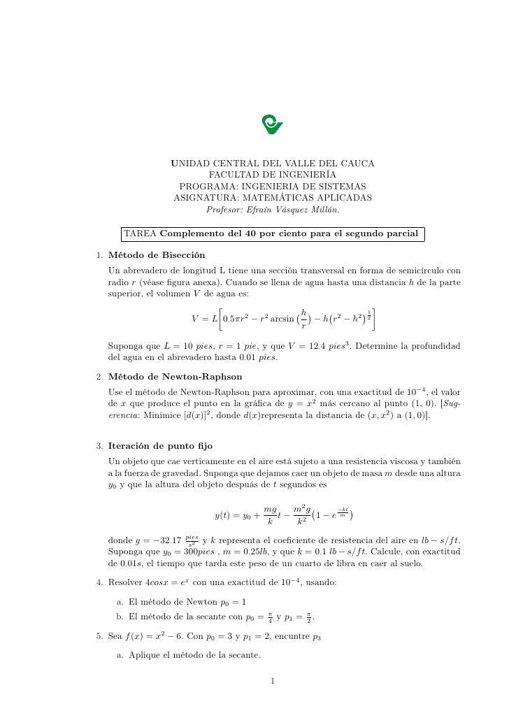 UNIDAD CENTRAL DEL VALLE DEL CAUCA                         FACULTAD DE INGENIERÍA                    PROGRAMA: INGENIERIA ...