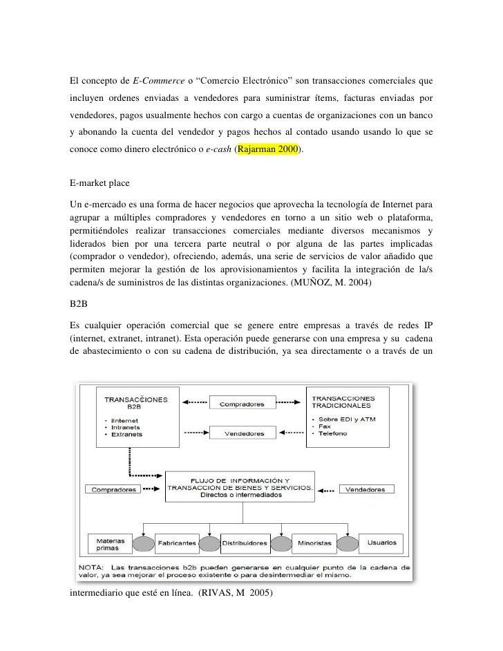 """El concepto de E-Commerce o """"Comercio Electrónico"""" son transacciones comerciales queincluyen ordenes enviadas a vendedores..."""