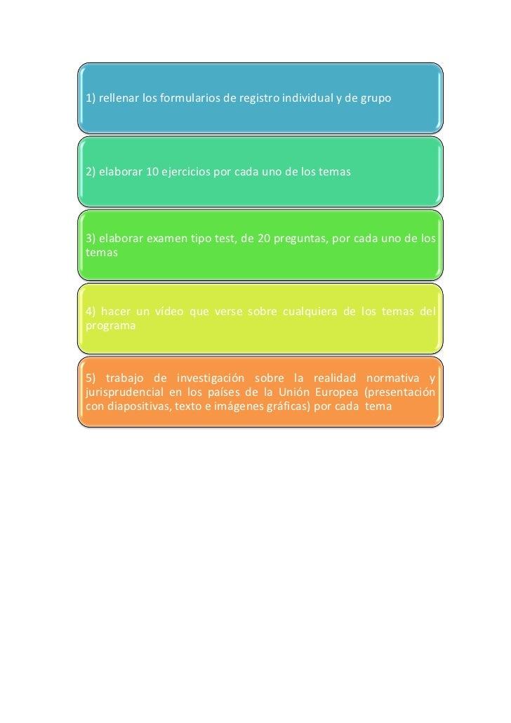 1) rellenar los formularios de registro individual y de grupo2) elaborar 10 ejercicios por cada uno de los temas3) elabora...