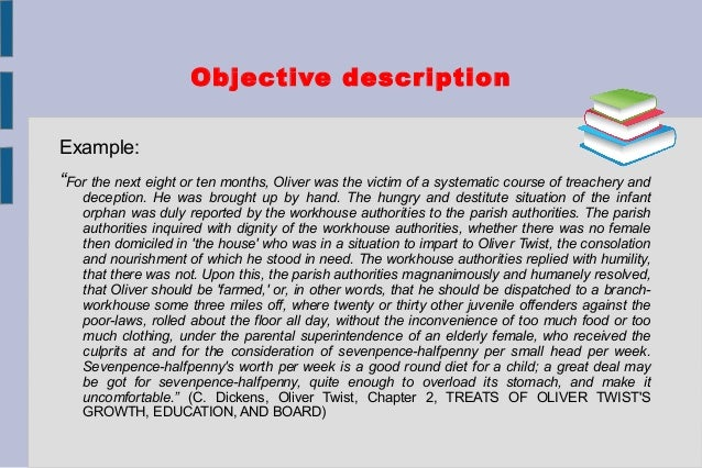 example of objective