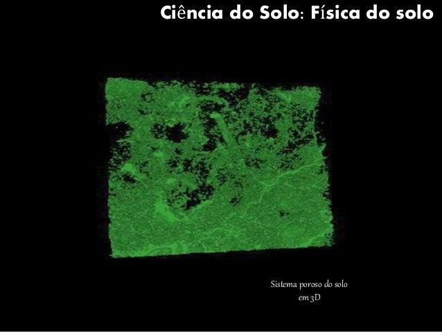 Ciência do Solo: Física do solo  Sistema poroso do solo  em 3D