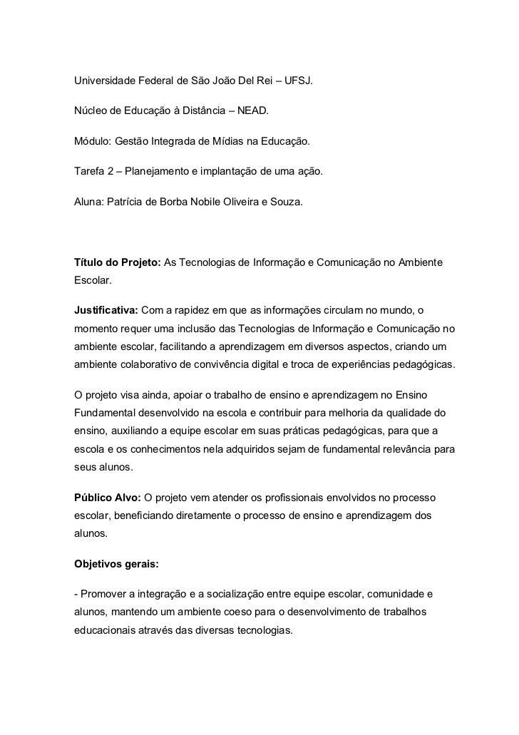 Universidade Federal de São João Del Rei – UFSJ.Núcleo de Educação à Distância – NEAD.Módulo: Gestão Integrada de Mídias n...