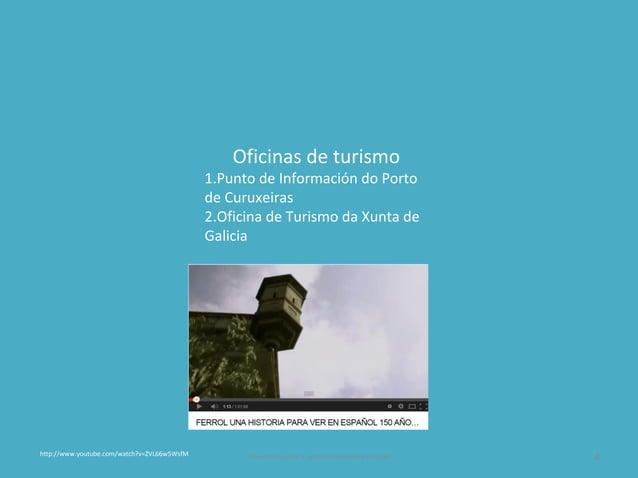 Oficinas de turismo 1.Punto de Información do Porto de Curuxeiras 2.Oficina de Turismo da Xunta de Galicia Presentación pa...