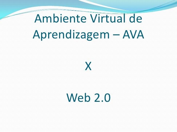 Ambiente Virtual deAprendizagem – AVA        X     Web 2.0