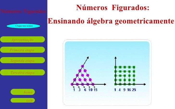 Números  Figurados:  Ensinando álgebra geometricamente