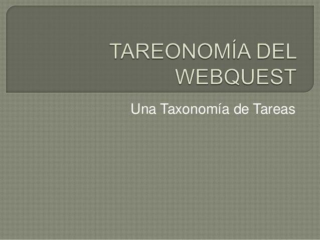 Una Taxonomía de Tareas