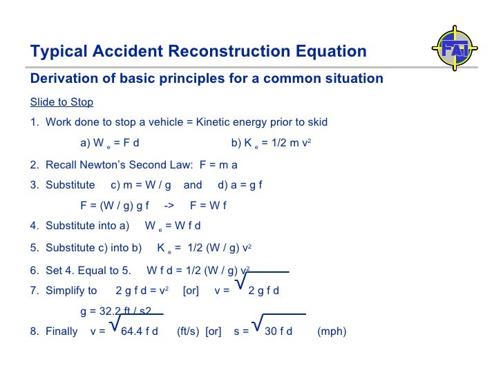 E - Traffic Accident Reconstruction Fundamentals