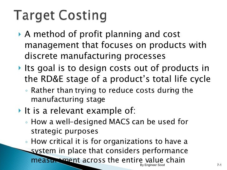 <ul><li>A method of profit planning and cost management that focuses on products with discrete manufacturing processes </l...