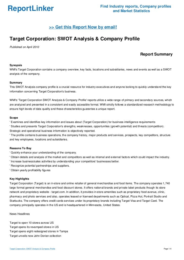 Financial Analysis of Target Corp.