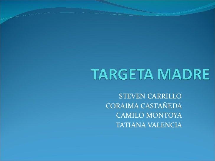 STEVEN CARRILLO  CORAIMA CASTAÑEDA  CAMILO MONTOYA  TATIANA VALENCIA