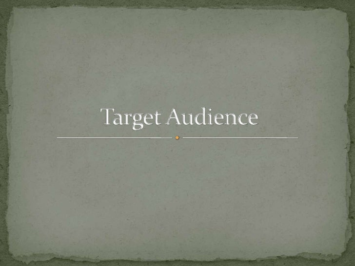 The target audience I have set for my horror trailer is  15 – 30. The audience will have to be 15 or over as   there will ...