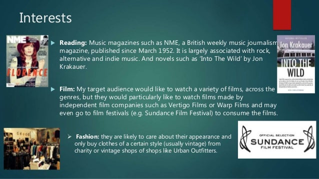 Interests  Reading: Music magazines such as NME, a British weekly music journalism magazine, published since March 1952. ...
