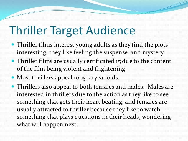 Target audience for a Crime Thriller