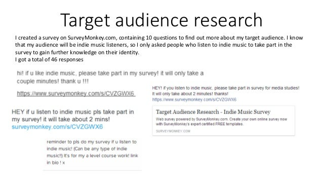Target Audience Research  Analysis Of Results