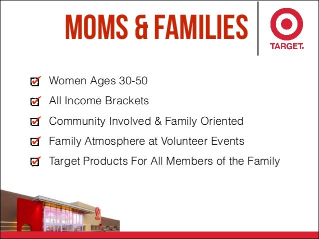 Moms & Families Women Ages 30-50 All Income Brackets Community Involved & Family Oriented Family Atmosphere at Volunteer E...