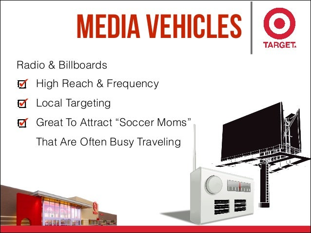 """Media Vehicles High Reach & Frequency Local Targeting Great To Attract """"Soccer Moms"""" That Are Often Busy Traveling Radio &..."""