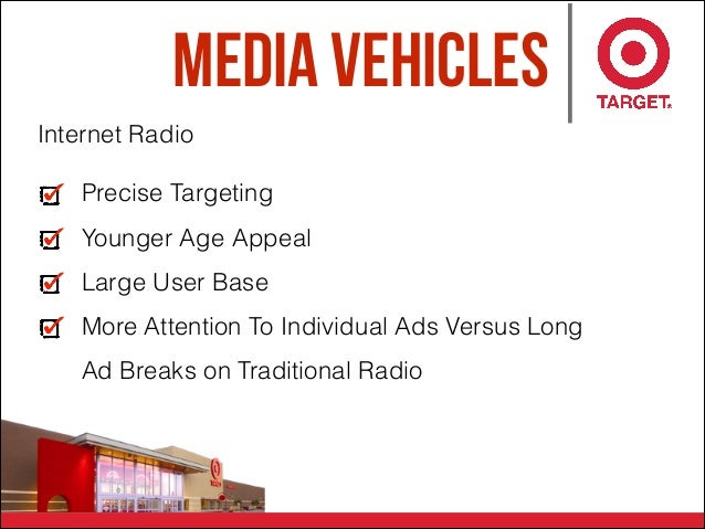 Media Vehicles Precise Targeting Younger Age Appeal Large User Base More Attention To Individual Ads Versus Long Ad Breaks...