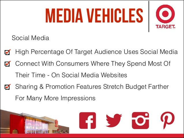 Media Vehicles Social Media High Percentage Of Target Audience Uses Social Media Connect With Consumers Where They Spend M...
