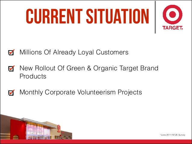 Current Situation Millions Of Already Loyal Customers New Rollout Of Green & Organic Target Brand Products Monthly Corpora...