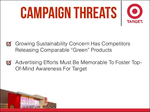"""Campaign Threats Growing Sustainability Concern Has Competitors Releasing Comparable """"Green"""" Products Advertising Efforts ..."""