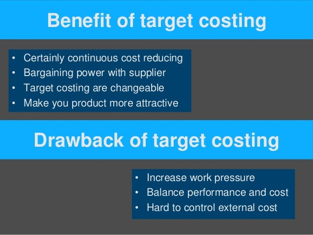 target costing in service industry Then, the target cost is set by subtracting the target profit from the target-selling price as the target-selling price of the product with certain specifications is already set by the.
