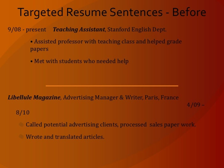 Targeted Resume Study