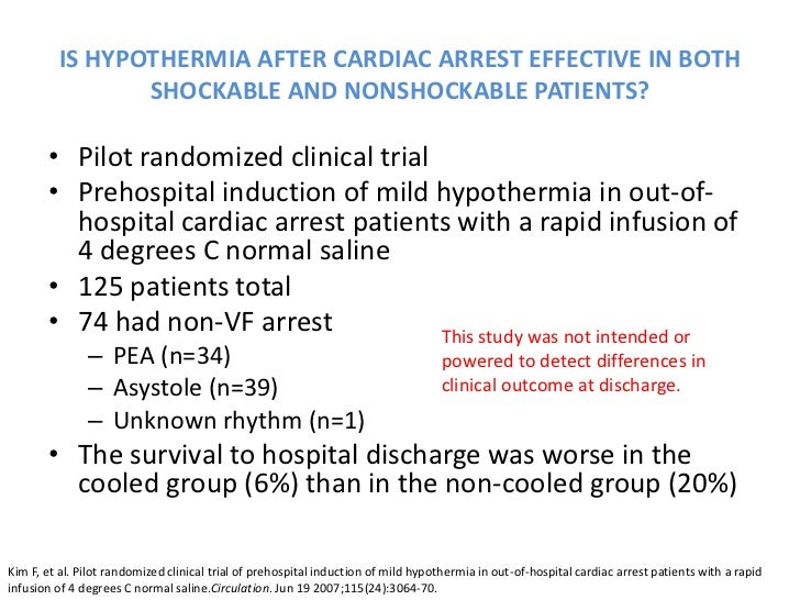 Therapeutic hypothermia following cardiac arrest essay