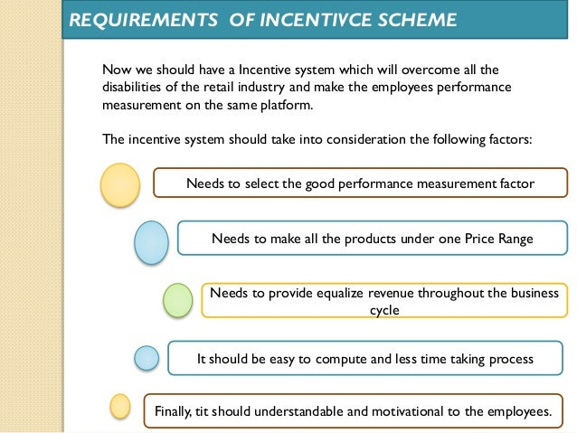 incentive schemes for employees pdf