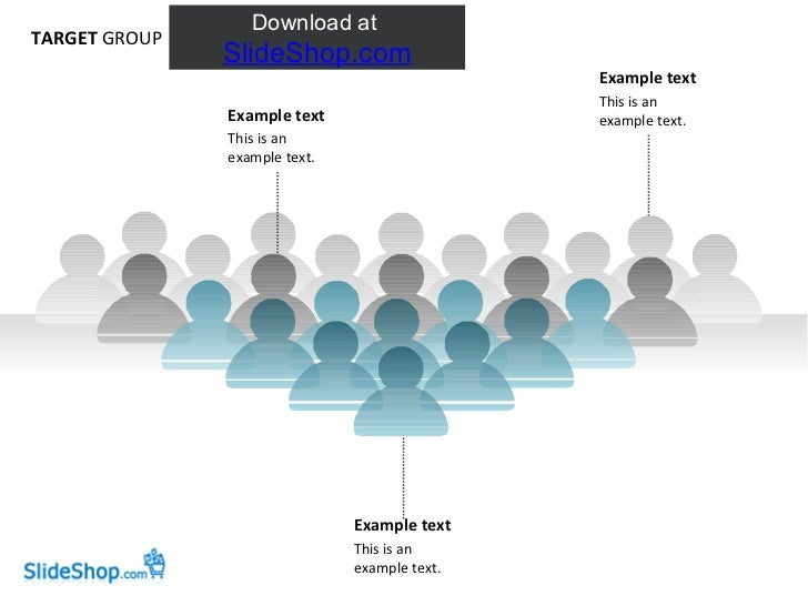TARGET  GROUP Example text This is an example text.  Example text This is an example text.  Example text This is an exampl...