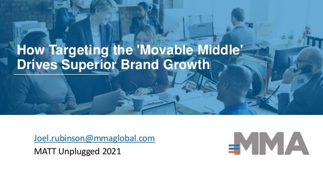 How Targeting the 'Movable Middle' Drives Superior Brand Growth Joel.rubinson@mmaglobal.com MATT Unplugged 2021