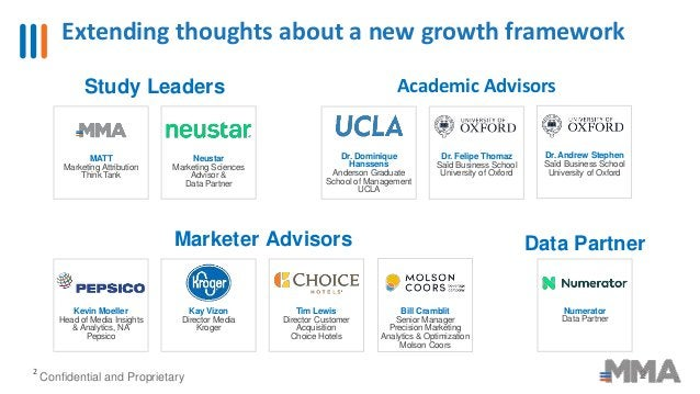Extending thoughts about a new growth framework 2 2 Confidential and Proprietary Academic Advisors Marketer Advisors Bill ...