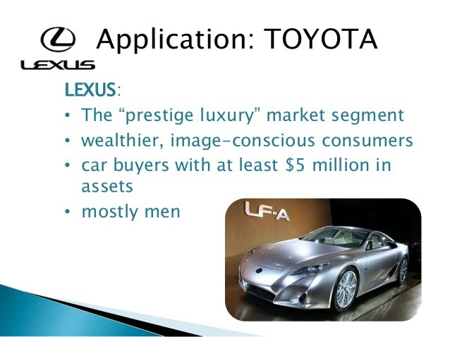 toyota target market segment Identifying primary and secondary target markets when determining a primary target market select the most important segment and designate it as the primary.