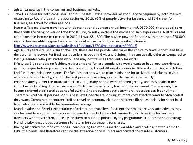 Target Market Analysis Jetstar Aud