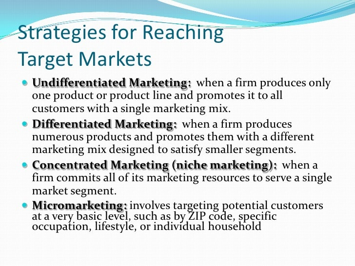 marketing strategies target market Far too often b2b marketers think they can just log into linkedin,  the trick here  is that identify a b2b target market is a bit more difficult than it is in b2c  then,  as you build out your marketing strategy, you can keep these.