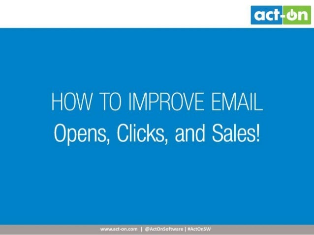 Target marketing   improve email pic