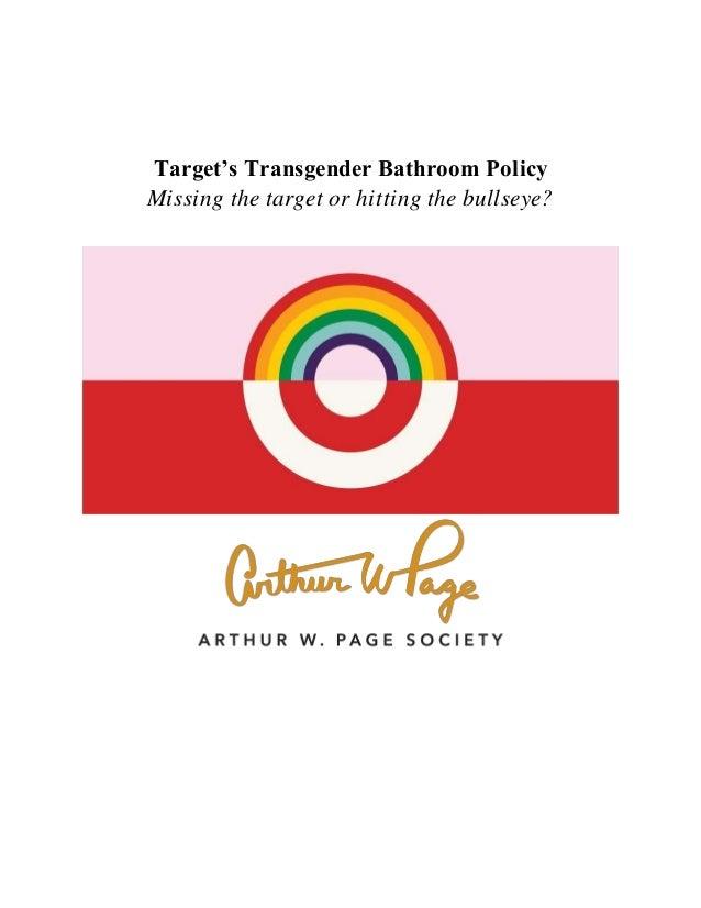 Targets Transgender Bathroom Policy Case Study - Target bathroom policy
