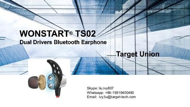 Skype: liu.ivy807 Whatsapp: +86-15919400480 Email: ivy.liu@target-tech.com