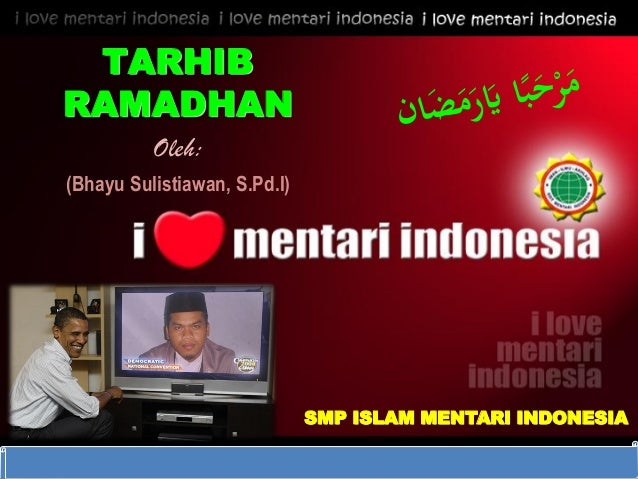 DIKLAT/BIMTEK KTSP 2009 DEPARTEMEN PENDIDIKAN NASIONAL HALAMAN TARHIB RAMADHAN Oleh: (Bhayu Sulistiawan, S.Pd.I) SMP ISLAM...