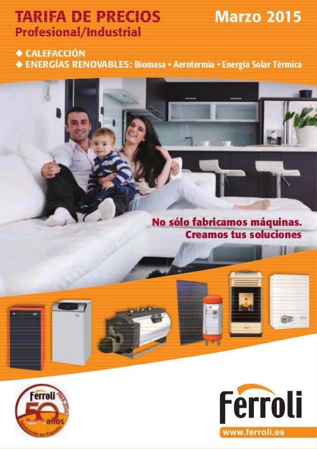 Tarifa Ferroli 2015