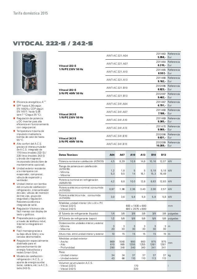 catalogo tarifa viessmann 2016