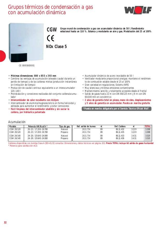 Tarifa de precios sistemas de calefaccion wolf 2014 - Sistema de calefaccion ...