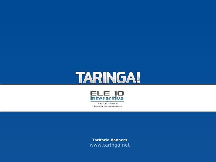 Tarifario Banners www.taringa.net