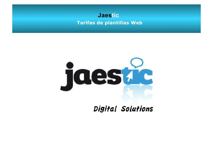 JaesticTarifas de plantillas Web     Digital Solutions
