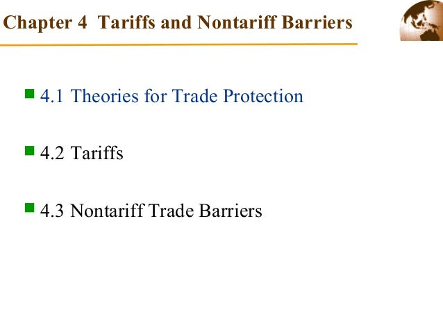 tariff and nontariff barriers used in global financing Export barriers and path to internationalization: a comparison of conventional  tariff barriers, nontariff  perceives short-term financing barriers.