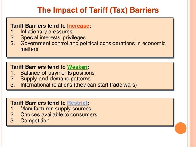 non tariff barriers to trade Sanitary and phytosanitary (sps) and related non-tariff barriers to agricultural trade congressional research service summary sanitary and phytosanitary (sps) measures are the laws, rules, standards, and procedures that.